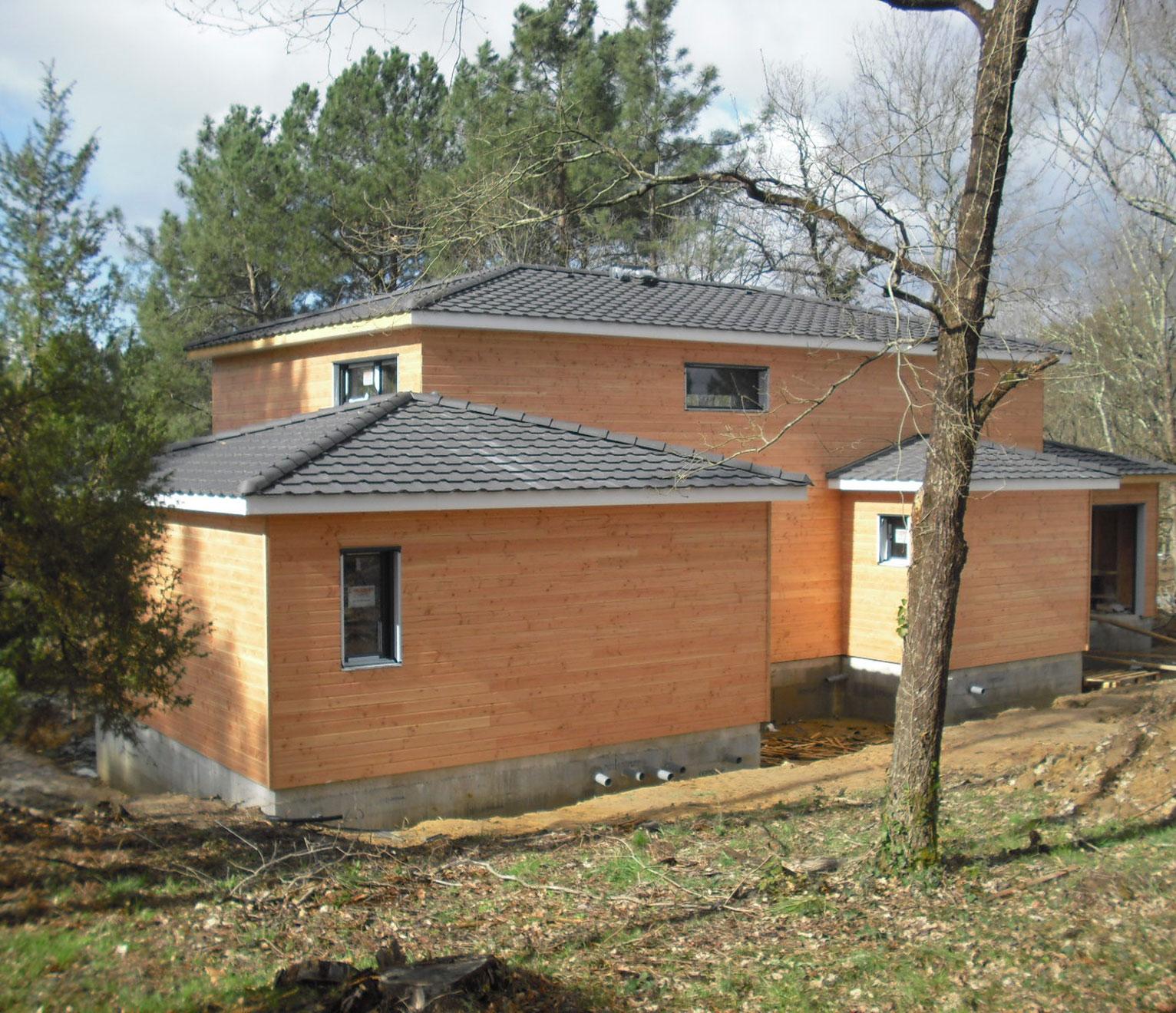 Maison à étage ossature bois
