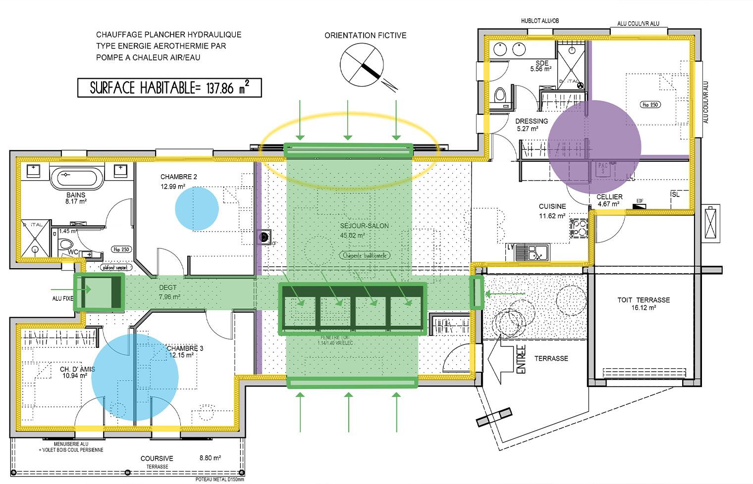 plan de maison lumineuse gaia