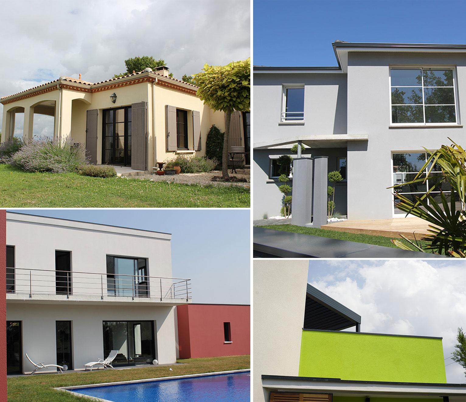 enduits minéraux maisons contemporaines