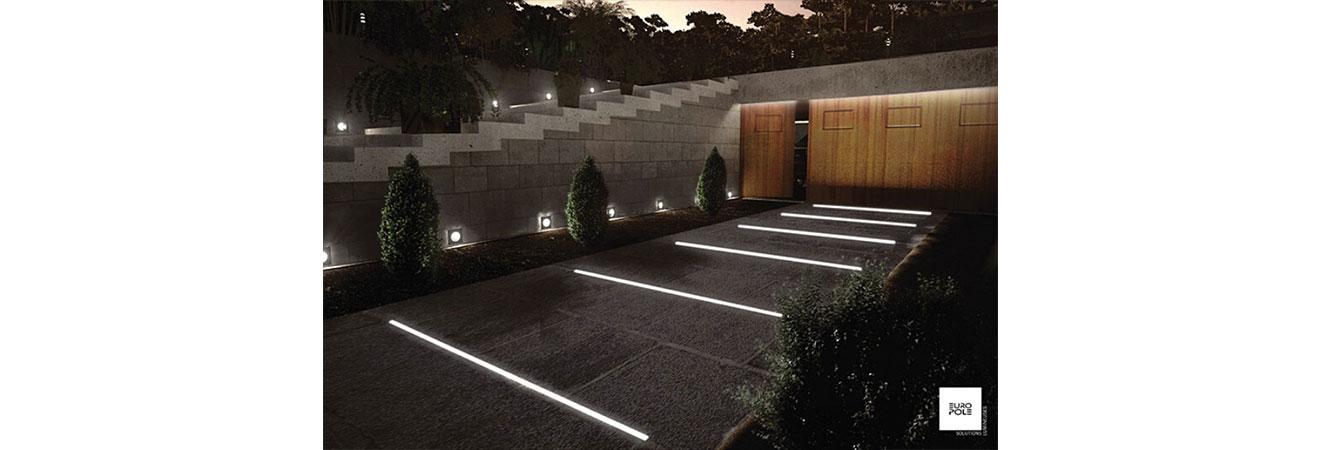 eclairage exterieur pour allee centrale igc