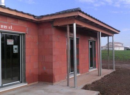 maison contemporaine plain pied baies vitrées
