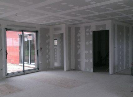 maison contemporaine plain pied plâtrerie