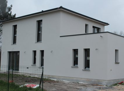 maison contemporaine bordeaux enduit blanc