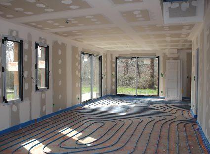 maison contemporaine bordeaux plancher chauffant