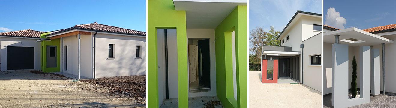 façades maisons en couleurs