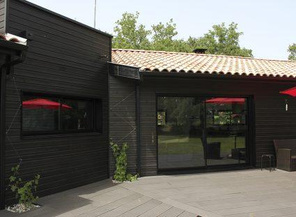 maison ossature bois avec terrasse