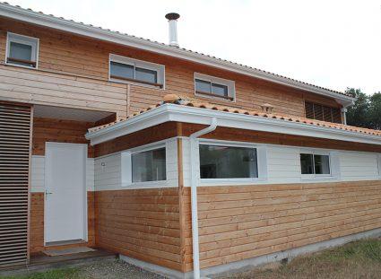 maison ossature bois naturel