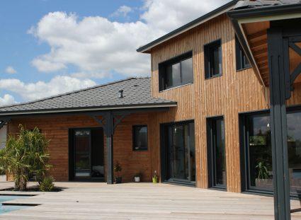 maison bois façade arrière