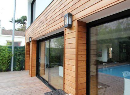 terrasse et façade en bois