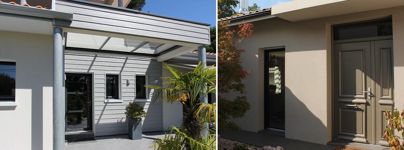 porte d'entrée maisons contemporaines
