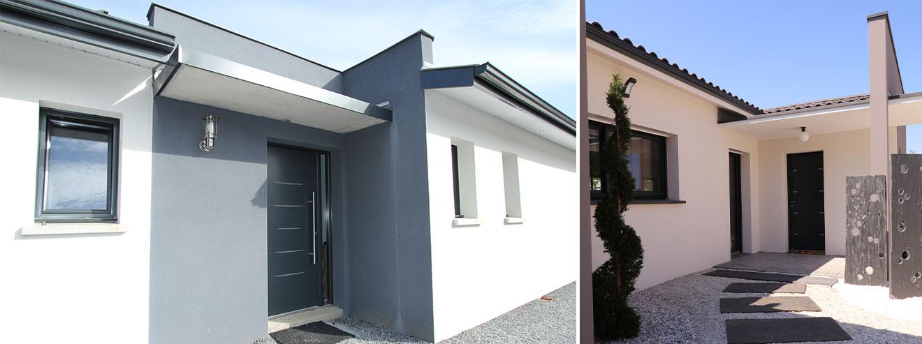 porte d'entrée maisons modernes