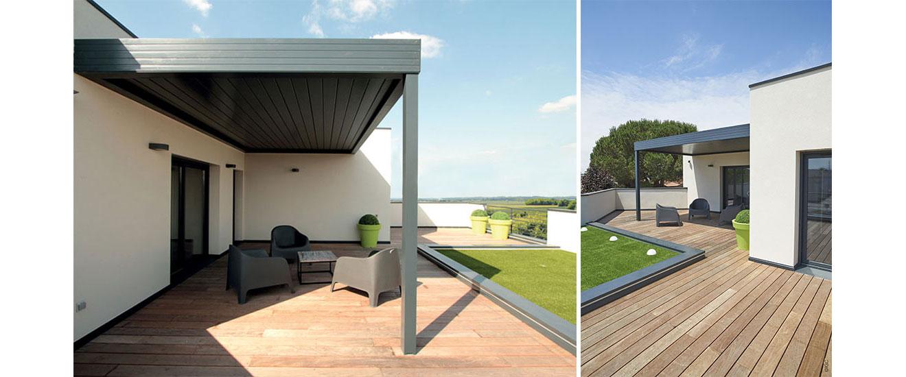 pergola bioclimatique maison moderne chora maison