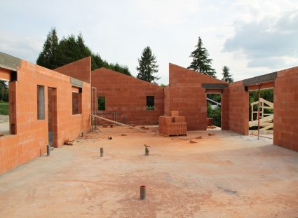 maison neuve en Dordogne élévation murs