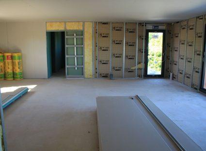 maison neuve en Dordogne pose plâtrerie