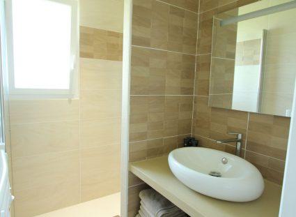 maison de famille douche moderne