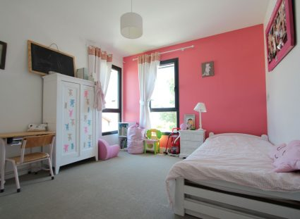 maison contemporaine nature chambre rose