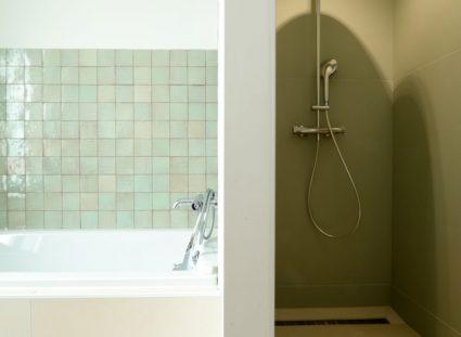 maison de ville avec salle de bain avec douche