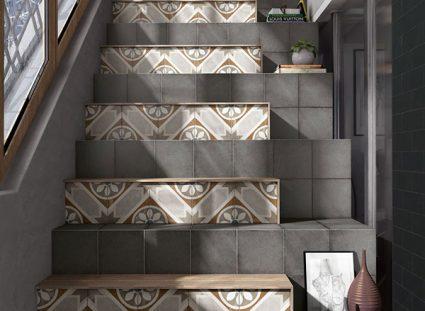 carreaux ciment escalier béton
