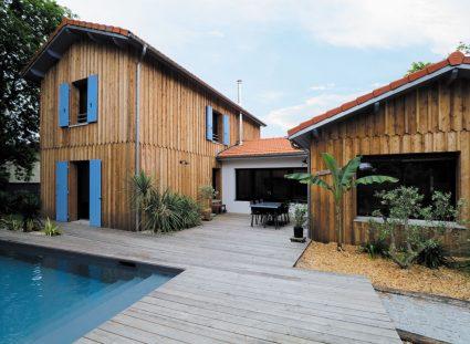 maison avec architecture bois
