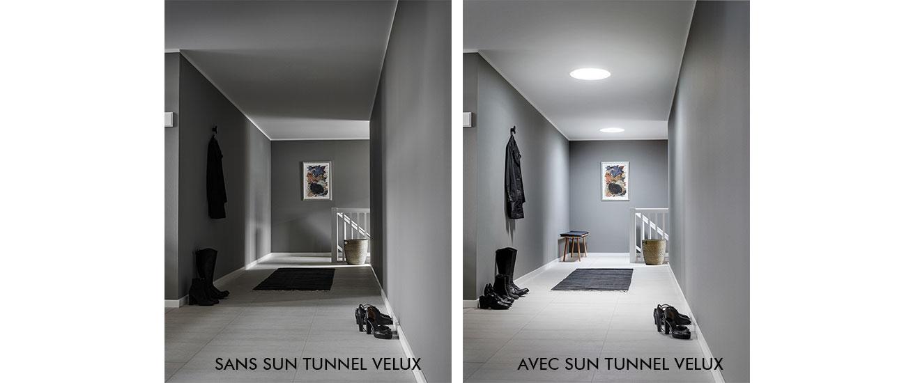 sun tunnel velux lumière