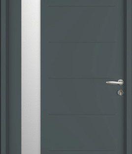 porte entrée gris 7016 satine