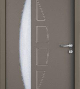 porte entrée gris 7039-satine
