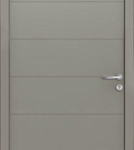 porte entrée gris 7030 satine