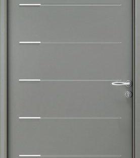 porte entree gris 7030 satine