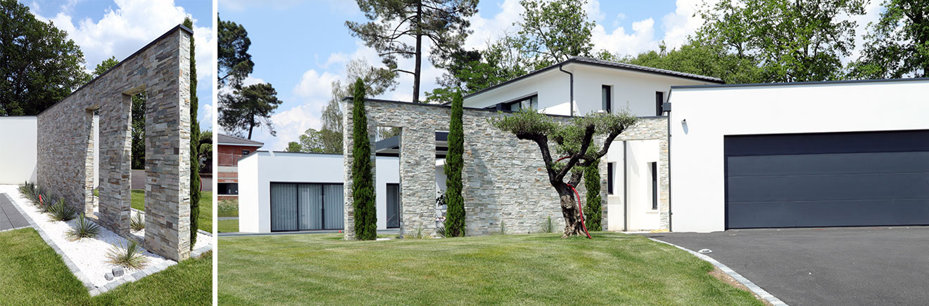 maison avec mur parement stonepanel