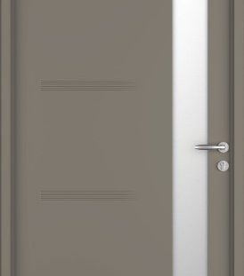 porte entrée gris 7039 satine