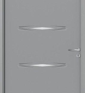 porte entree gris 7004 satine
