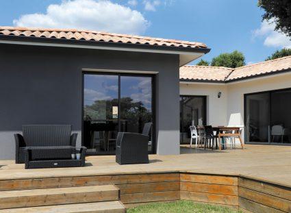 maison avec terrasse bois
