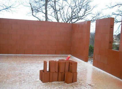 construction briques collées