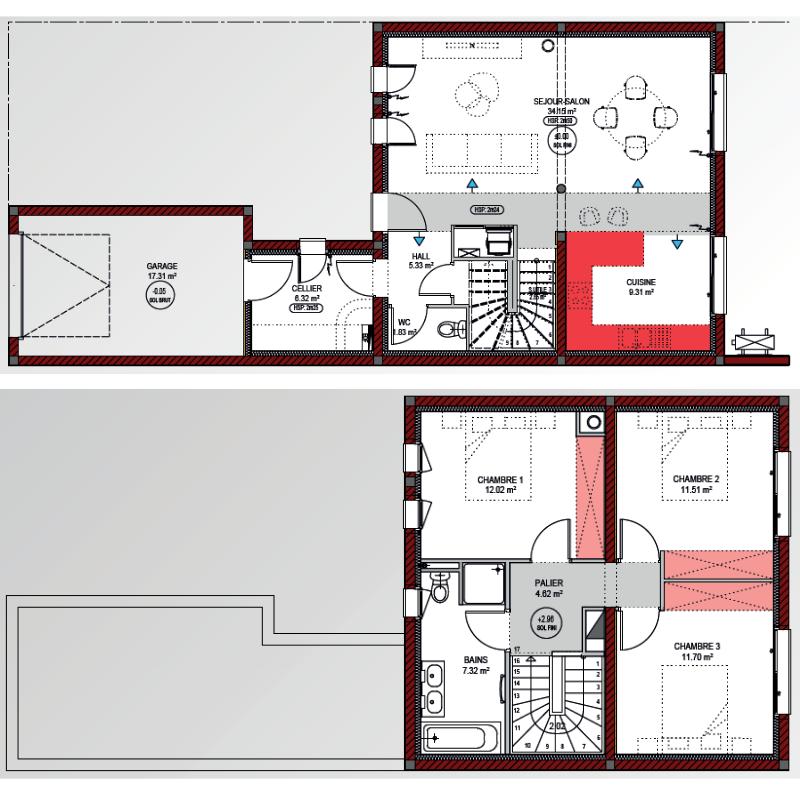 plan de maison de ville ESTRELLA