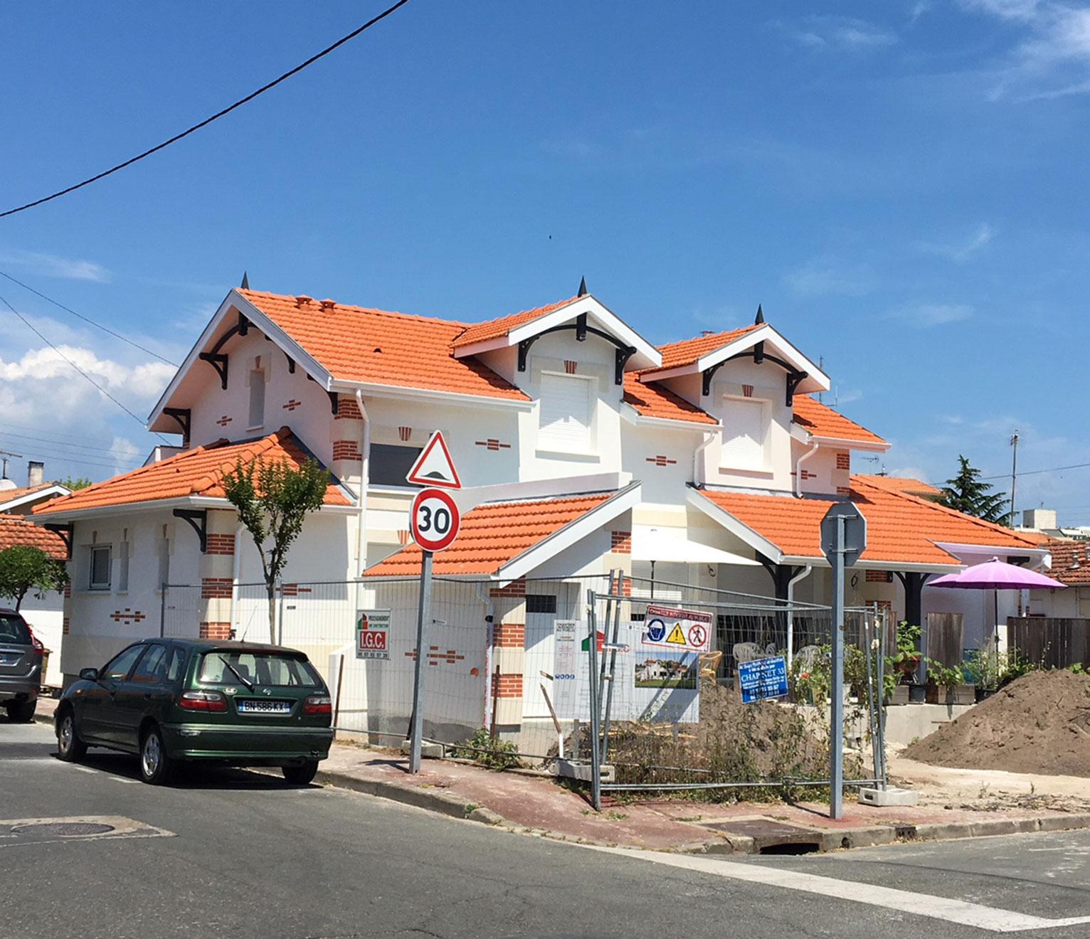 Une maison à étage arcachonnaise