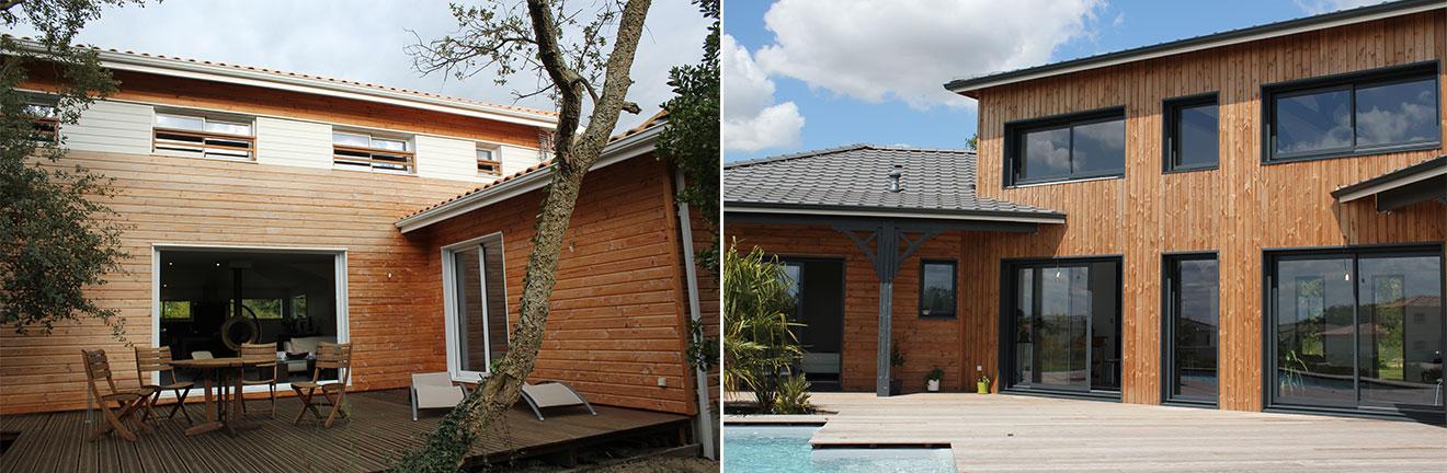 bardage naturel massif durable pour maison bois