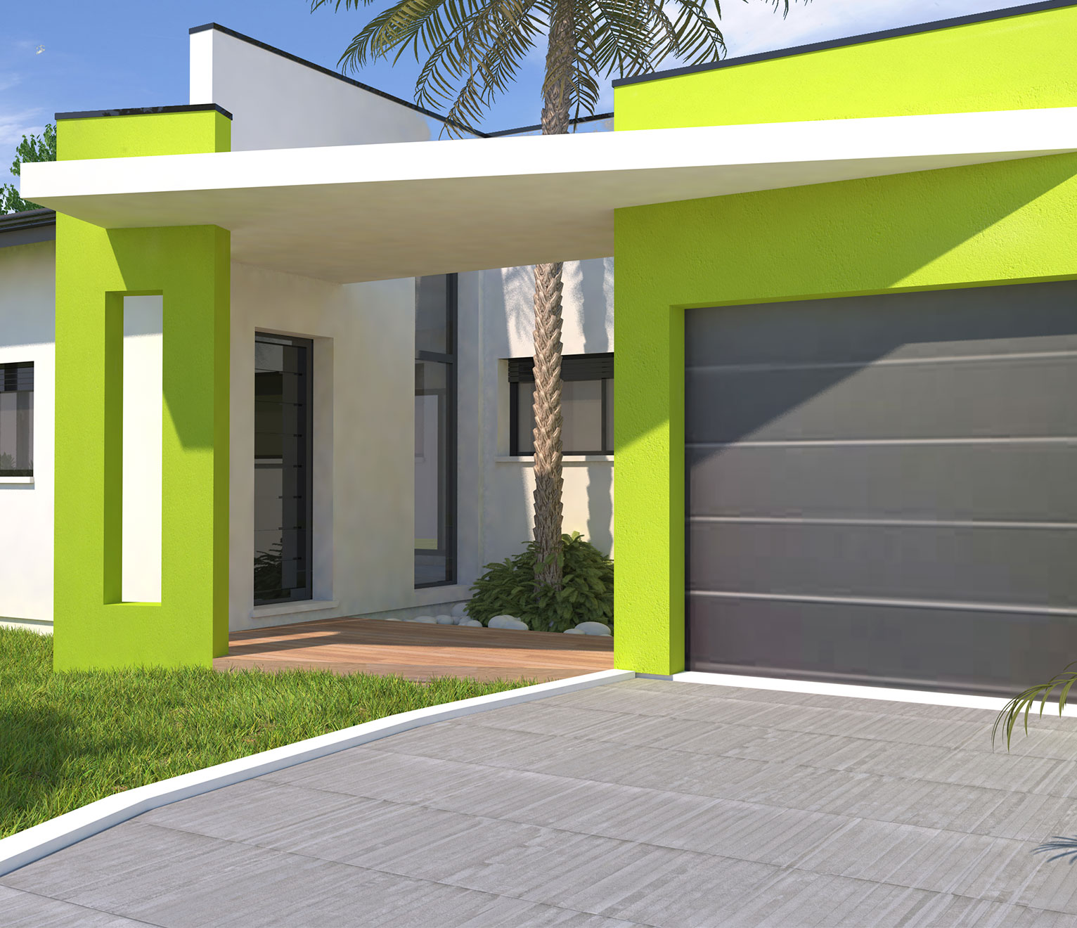 Couleur Exterieur Maison Contemporaine façade de la maison : ajoutez de la couleur à votre