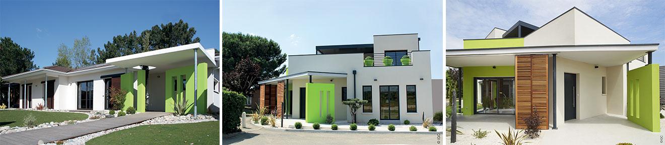 façade maison couleur verte