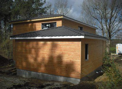 maison a étage ossature bois bardage