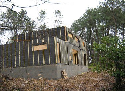 maison a etage ossature bois élévation murs