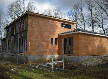 maison à étage ossature bois murs extérieurs