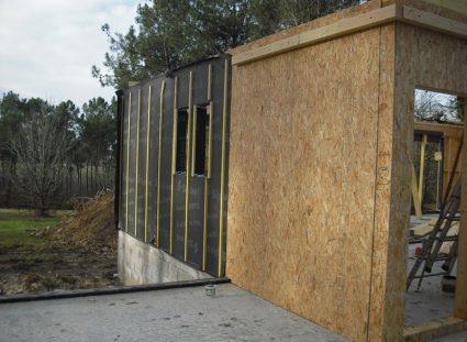 maison a étage ossature bois murs panneau contrevent
