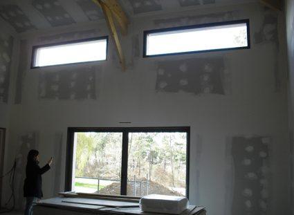 maison à étage ossature bois plâtrerie