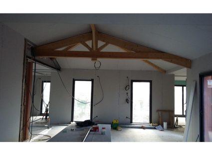 maison charentaise contemporaine plafond rampant