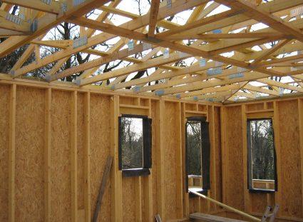 maison contemporaine en ossature bois couverture