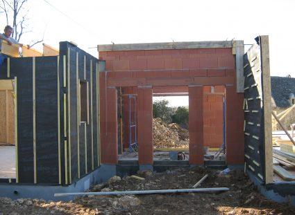 maison contemporaine en ossature bois élévation murs