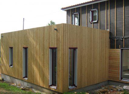 maison contemporaine en ossature bois espace de détente