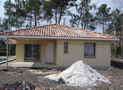 maison de 118 m²en construction