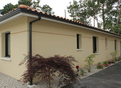 maison de 118 m²avec enduit grattée