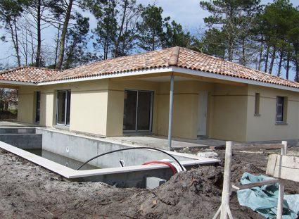 maison de 118 m² installation piscine